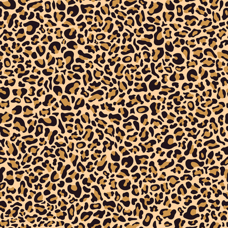 Nahtloses Muster aus Leopardenfell, Textildesign