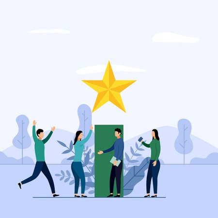 Business team and competition, achievement, successful, challenge, business concept vector illustration 向量圖像