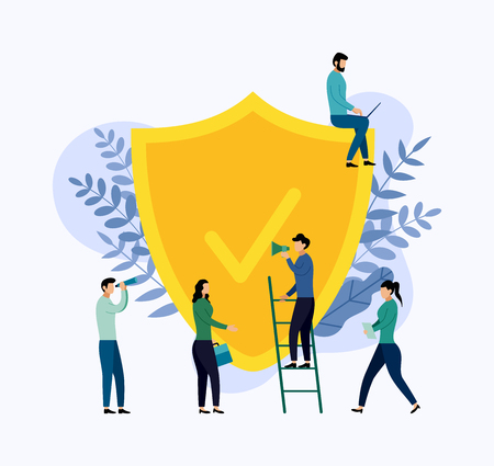 Insurance policy concept, data security, business concept vector illustration Vetores
