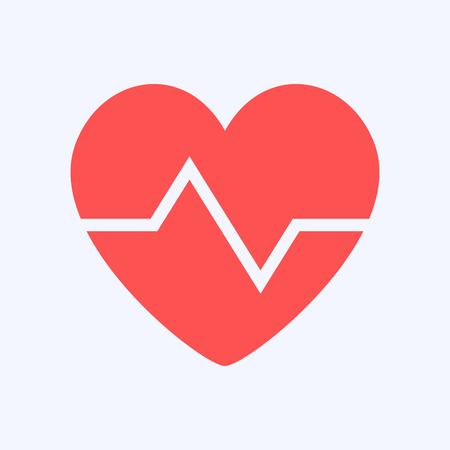 Disegno del simbolo a forma di cuore, protezione della salute su sfondo blu Vettoriali