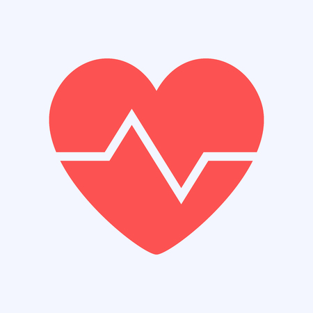 Heart shape symbol design, protection health on blue background Vector Illustration