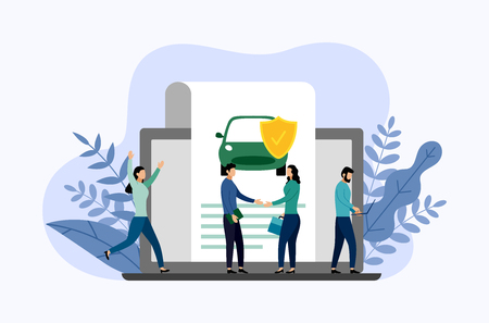 Autobescherming, bedrijfsconcept vectorillustratie Vector Illustratie