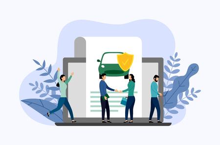 Autoschutz, Geschäftskonzept-Vektorillustration Vektorgrafik