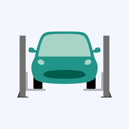 Car service and repair, fixing car, business concept vector illustration