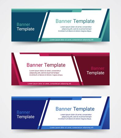 Abstract corporate business banner template set, vector illustration Archivio Fotografico - 129691179
