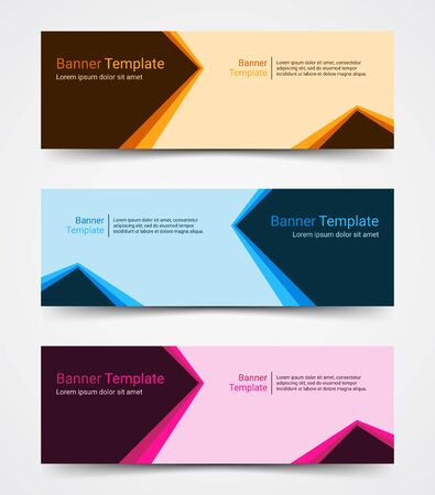 Abstract corporate business banner template set, vector illustration Archivio Fotografico - 129691181