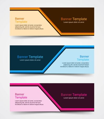 Abstract corporate business banner template set, vector illustration Archivio Fotografico - 129691182