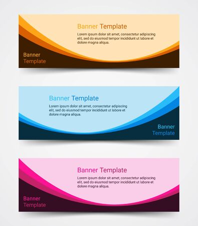 Abstract corporate business banner template set, vector illustration Archivio Fotografico - 129691180