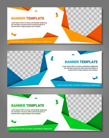 Abstract corporate business banner template set, vector illustration Archivio Fotografico - 129691401