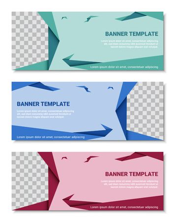 Abstract corporate business banner template set, vector illustration Archivio Fotografico - 129691403