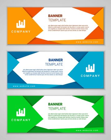 Abstract corporate business banner template set, vector illustration