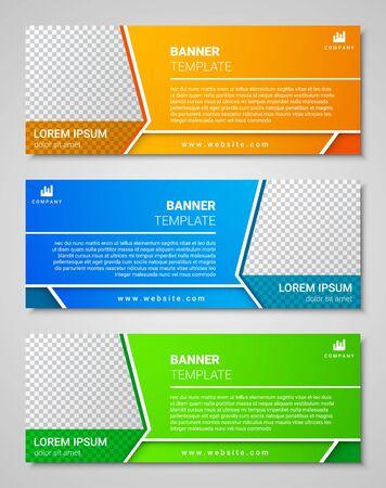 Conjunto de plantillas de banner de negocios corporativos abstractos, ilustración vectorial Ilustración de vector