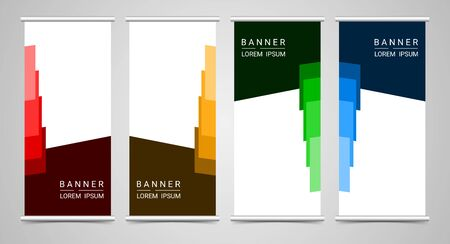 Abstract corporate business roll up template, vector illustration