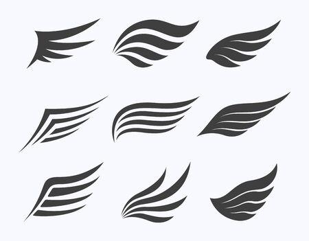 Set of wings on white background, vector illustration Stockfoto - 139652789