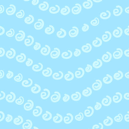 Seamless pattern with spiral shapes, vector illustration