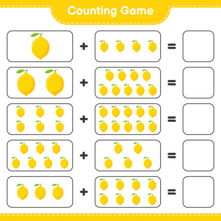 Counting game, count the number of Jackfruit and write the result. Educational children game, printable worksheet, vector illustration