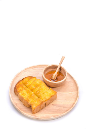 dipper: toasted bread with honey and honey dipper