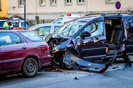 Autounfall Standard-Bild