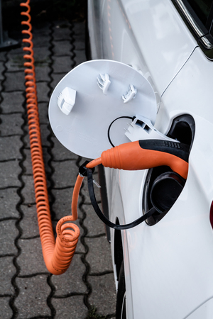 Electric car plug in