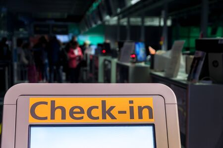 Self check in at the airport