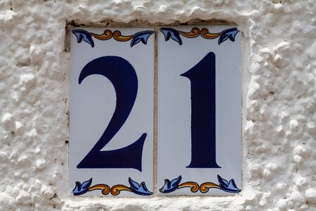 House number 21 Imagens
