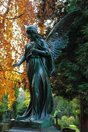 Angel on the cemetery
