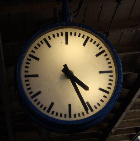 Vintage station watch Stock Photo