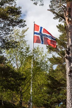 Flag of Norway Stock Photo