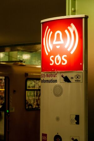 SOS sign in the subway Berlin
