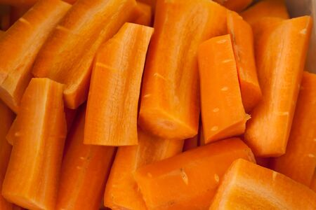 Fresh orange carrots from the garden