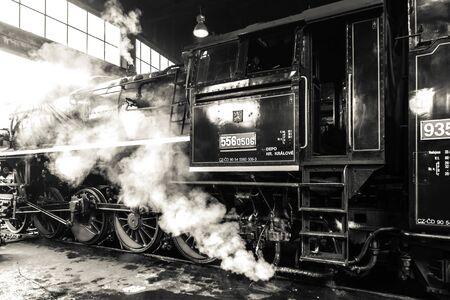 Old retro steam locomotive Stok Fotoğraf
