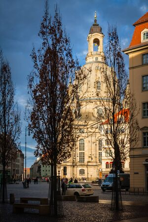 Dresden old town, church of the lady Standard-Bild