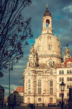 Dresden old town, church of the lady