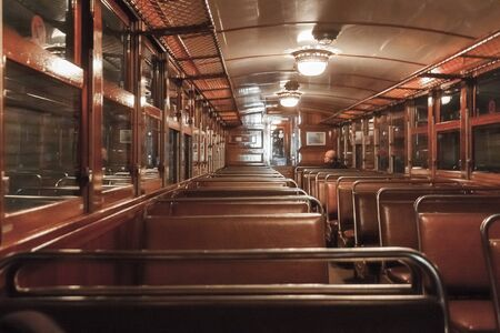 Inside the old train in Palma, Majorca Imagens - 132038949