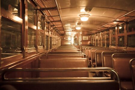 Inside the old train in Palma, Majorca Imagens - 132040367