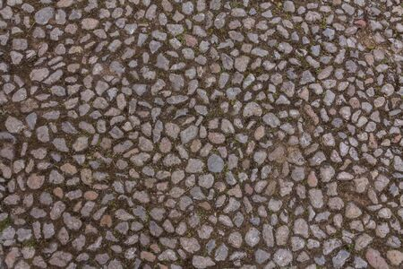 Old cobblestone on the street