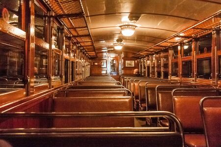 Inside the old train in Palma, Majorca Imagens - 132040241