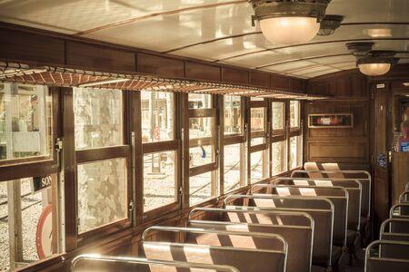 Inside the old train in Palma, Majorca
