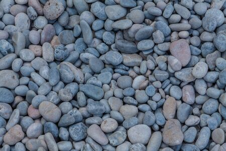 Stony beach with small stones in Majorca Imagens