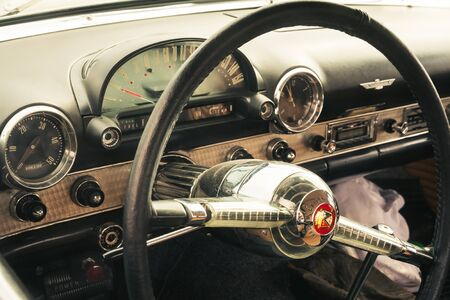 View to a cockpit of oldtimer