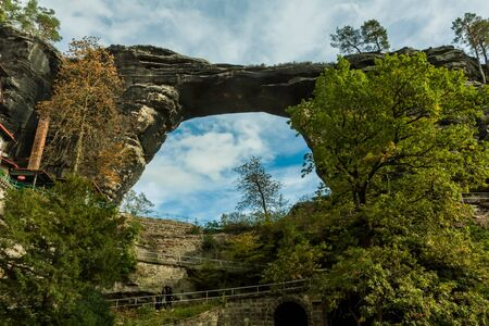 The sandstone arch in Bohemia, Czech Republic 版權商用圖片