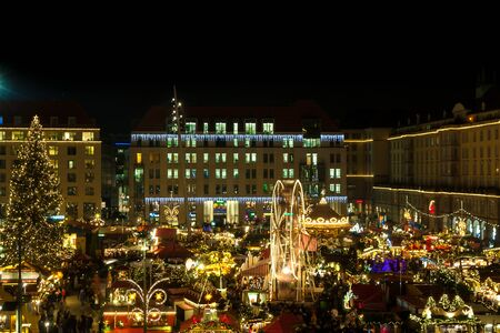 A at the christmas market in Dresden, Saxony