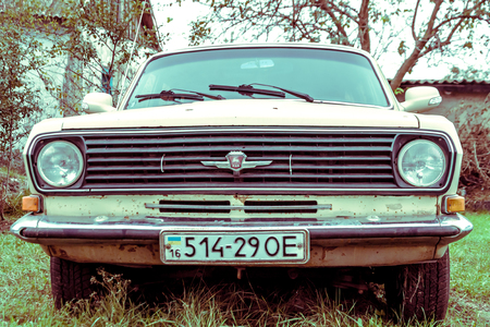 The old Volga GAZ-24 car from the former Soviet Union