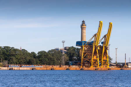 Port of Swinemuende in Poland 版權商用圖片
