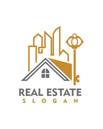 real estate: Real Estate icon Illustration