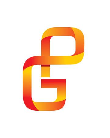 GP Initials Modern Logo