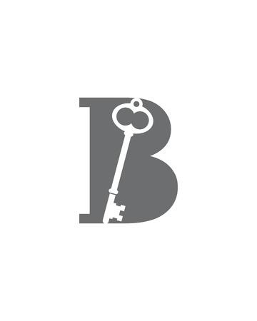B Sleutelpictogram illustratie Stock Illustratie