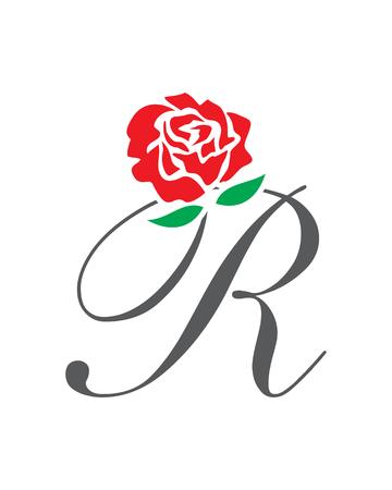 R Rose flower