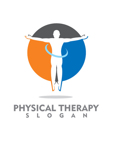 Physical Therapy logo Stock Illustratie
