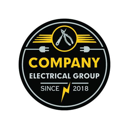 Electricity Emblem Vector